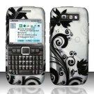 Hard Rubber Feel Design Case for Nokia E71 - Black Vines