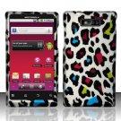 Hard Rubber Feel Design Case for Motorola Triumph WX435 (Virgin Mobile) - Colorful Leopard