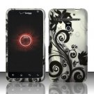 Hard Rubber Feel Design Case for LG Revolution 4G/Esteem (Verizon/MetroPCS) - Black Vines