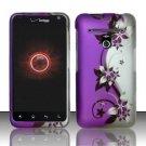 Hard Rubber Feel Design Case for LG Revolution 4G/Esteem (Verizon/MetroPCS) - Purple Vines