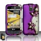 Hard Rubber Feel Design Case for LG Optimus S/U/V - Purple Vines