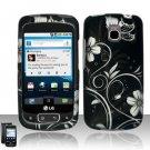 Hard Rubber Feel Design Case for LG Optimus T/Phoenix/Thrive (T-Mobile/AT&T) - Midnight Garden