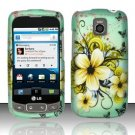 Hard Rubber Feel Design Case for LG Optimus T/Phoenix/Thrive (T-Mobile/AT&T) - Natural Flowers