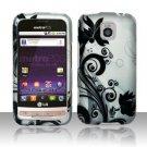 Hard Rubber Feel Design Case for LG Optimus M/C - Black Vines