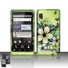 Hard Rubber Feel Design Case for Motorola Droid 2 A955 (Verizon) - Hawaiian Flowers