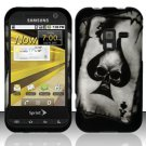 Hard Rubber Feel Design Case for Samsung Conquer 4G (Sprint) - Spade Skull