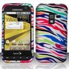 Hard Rubber Feel Design Case for Samsung Conquer 4G (Sprint) - Colorful Zebra