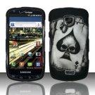 Hard Rubber Feel Design Case for Samsung Droid Charge i520 (Verizon) - Spade Skull