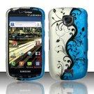 Hard Rubber Feel Design Case for Samsung Droid Charge i520 (Verizon) - Blue Vines