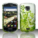 Hard Rubber Feel Design Case for Samsung Droid Charge i520 (Verizon) - Green Vines
