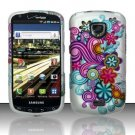 Hard Rubber Feel Design Case for Samsung Droid Charge i520 (Verizon) - Purple Blue Flowers