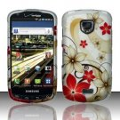 Hard Rubber Feel Design Case for Samsung Droid Charge i520 (Verizon) - Red Flowers