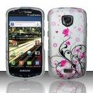 Hard Rubber Feel Design Case for Samsung Droid Charge i520 (Verizon) - Pink Garden