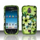 Hard Rubber Feel Design Case for Samsung Exhibit 4G - Hawaiian Flowers