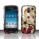 Hard Rubber Feel Design Case for Samsung Exhibit 4G - Red Flowers
