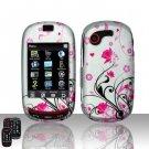 Hard Rubber Feel Design Case for Samsung Gravity Touch - Pink Garden