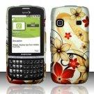 Hard Rubber Feel Design Case for Samsung Replenish M580 - Red Flowers