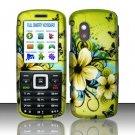 Hard Rubber Feel Design Case for Samsung T401g (StraightTalk) - Hawaiian Flowers