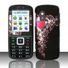 Hard Rubber Feel Design Case for Samsung T401g (StraightTalk) - Royal Heart