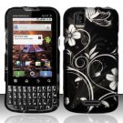 Hard Rubber Feel Design Case for Motorola XPRT MB612 (Sprint) - Midnight Garden