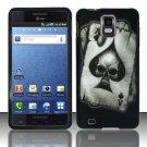 Hard Rubber Feel Design Case for Samsung Infuse 4G - Spade Skull