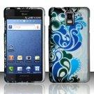 Hard Rubber Feel Design Case for Samsung Infuse 4G - Blue Waves