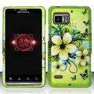 Hard Rubber Feel Design Case for Motorola Droid Bionic 4G XT875 (Verizon) - Hawaiian Flowers