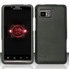 Hard Rubber Feel Design Case for Motorola Droid Bionic 4G XT875 (Verizon) - Carbon Fiber