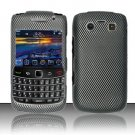 Hard Rubber Feel Design Case for Blackberry Bold 9700/9780 - Carbon Fiber