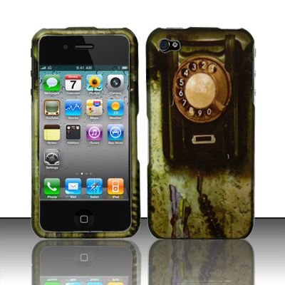 Hard Rubber Feel Design Case for Apple iPhone 4/4S - Telephone