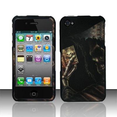 Hard Rubber Feel Design Case for Apple iPhone 4/4S - Reaper's Game