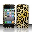 Hard Rubber Feel Design Case for Apple iPhone 4/4S - Cheetah