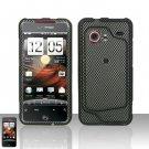 Hard Rubber Feel Design Case for HTC DROID Incredible (Verizon) - Carbon Fiber