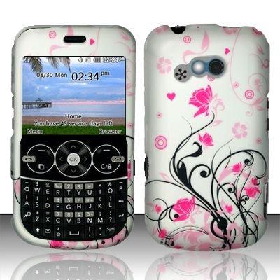 Hard Rubber Feel Design Case for LG 900g (StraightTalk) - Pink Garden