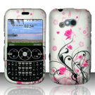 Hard Rubber Feel Design Case for LG 900g (StraightTalk) - Pink Garden