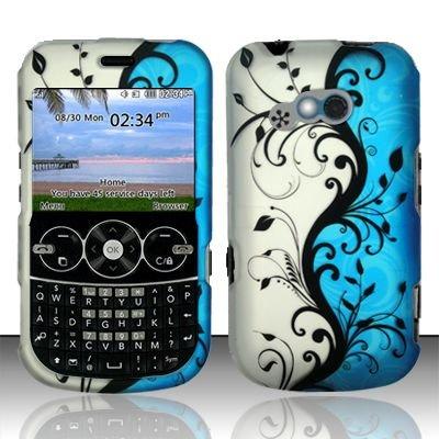 Hard Rubber Feel Design Case for LG 900g (StraightTalk) - Blue Vines