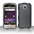 Hard Rubber Feel Design Case for LG Optimus M/C - Carbon Fiber