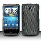 Hard Rubber Feel Design Case for HTC Inspire 4G/Desire HD - Carbon Fiber