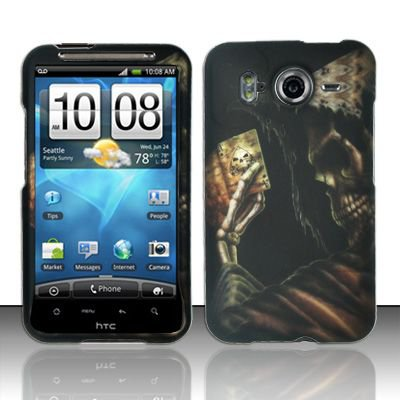 Hard Rubber Feel Design Case for HTC Inspire 4G/Desire HD - Reaper's Game