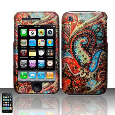 Hard Rubber Feel Design Case for Apple iPhone 3G/3Gs - Enticing Peacock