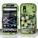 Hard Rubber Feel Design Case for Motorola Photon 4G MB855 (Sprint) - Hawaiian Flowers