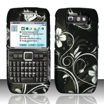 Hard Rubber Feel Design Case for Nokia E71 - Midnight Garden
