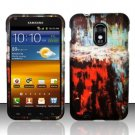Hard Rubber Feel Design Case for Samsung Epic Touch 4G/Galaxy S2 (Sprint) - Colorful Art
