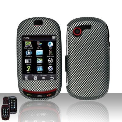 Hard Rubber Feel Design Case for Samsung Gravity Touch - Carbon Fiber