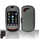 Hard Rubber Feel Design Case for Samsung Gravity Touch - Carbon Fiber