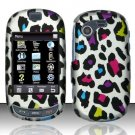 Hard Rubber Feel Design Case for Samsung Gravity Touch - Colorful Leopard