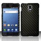 Hard Rubber Feel Design Case for Samsung Infuse 4G - Carbon Fiber V2