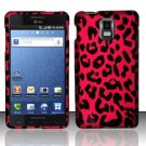 Hard Rubber Feel Design Case for Samsung Infuse 4G - Pink Leopard