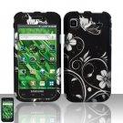 Hard Rubber Feel Design Case for Samsung Vibrant/Galaxy S T959 - Midnight Garden
