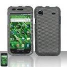 Hard Rubber Feel Design Case for Samsung Vibrant/Galaxy S T959 - Carbon Fiber
